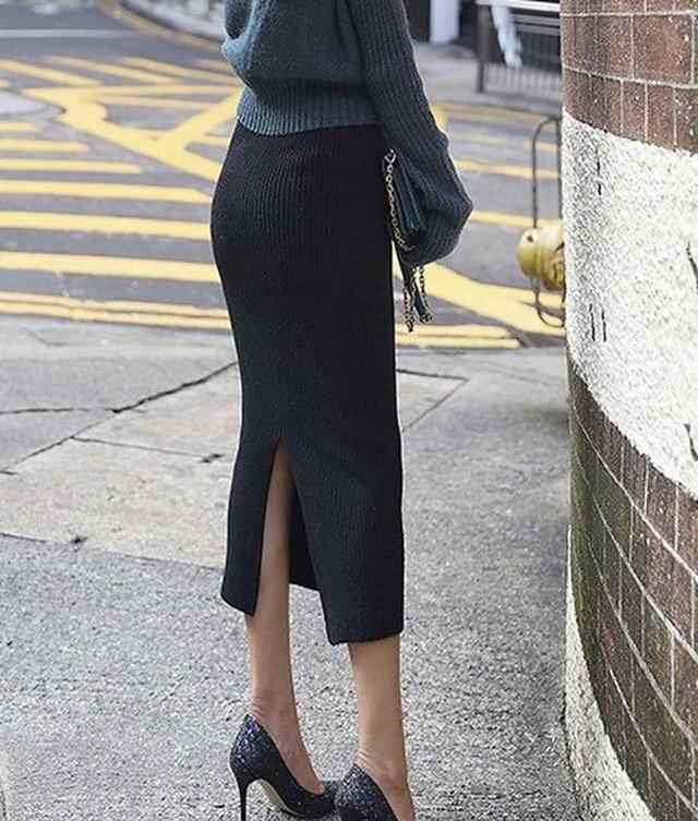 画像1: ストレッチロングタイトスカート
