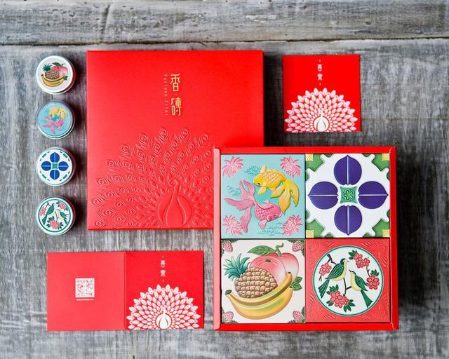 画像: 練り香水 ギフトボックス 4個セット / 組み合わせ自由 - Perfume Tiles  - 香水   Pinkoi