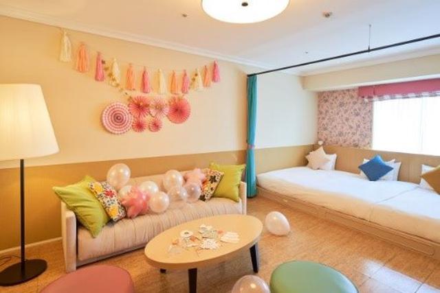 画像1: プラン限定装飾のカワイイお部屋とうれしいブランドアメニティ