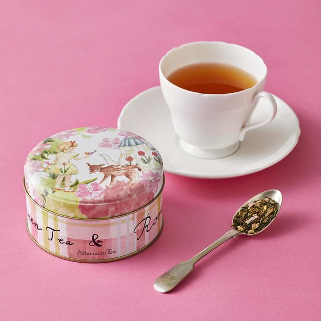 画像1: 桜の花びらと桃色のルバーブチップをちりばめたお茶など春限定のお茶