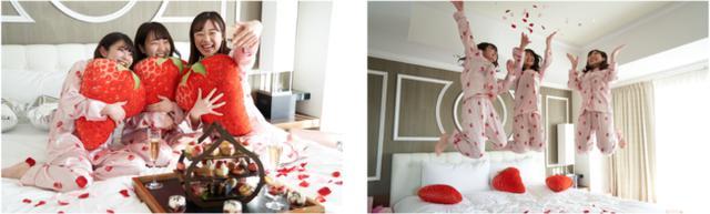 画像: いちごのアフタヌーンティ―セットとドリンクをルームサービス