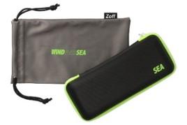 画像: WIND AND SEAのロゴが配されたオリジナルケースとメガネ拭き付き