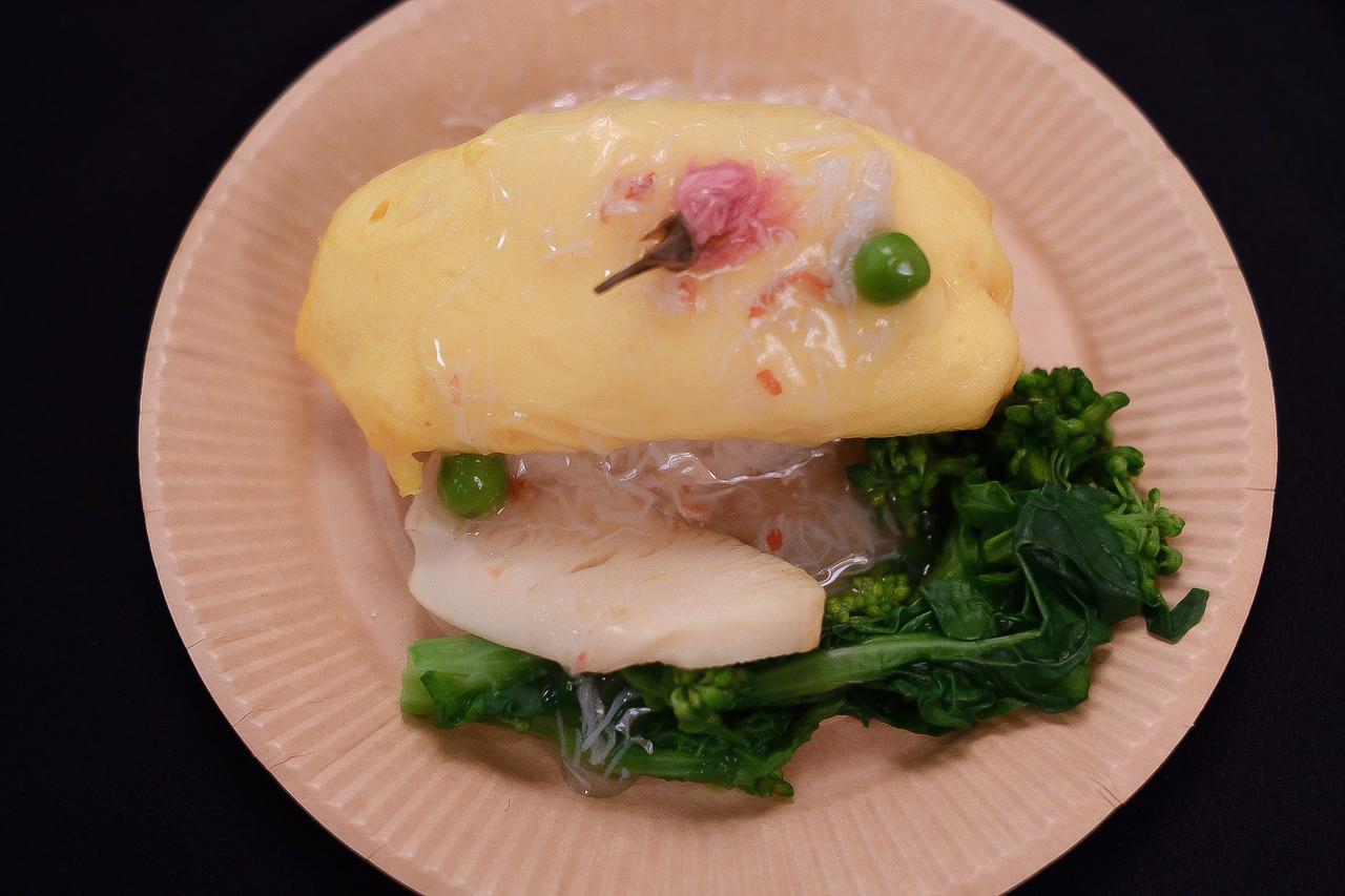 画像: 〈季節限定〉春野菜のあんかけオムライス