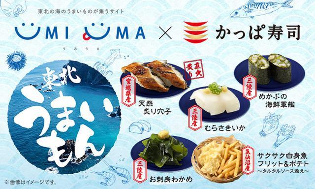 画像1: 【UMIUMA×かっぱ寿司】東北の海のうまいものが集合「東北うまいもん」フェア開催