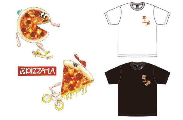 画像2: ジーユーで販売されるピザーラのコラボTシャツも要チェック
