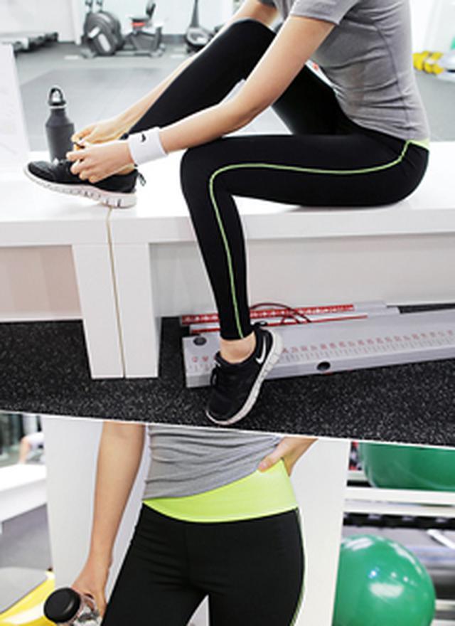 画像: [DHOLIC] ネオンカラーライントレーニングパンツ・全4色|レディースファッション通販 DHOLICディーホリック [ファストファッション 水着 ワンピース]