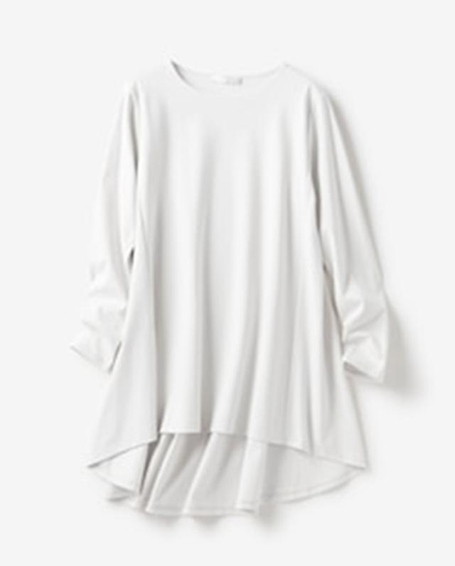 画像2: 大人気の「ドゥクラッセTシャツ」シリーズからシリーズ史上、最高に女らしい「ドゥクラッセTシャツ・ペプラムボートネック」が発売