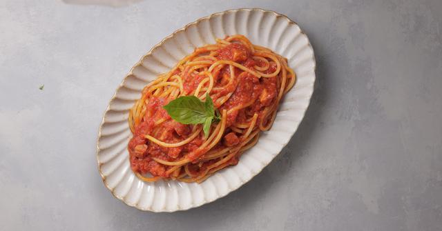 画像: ダッテリーニのトマトソースパスタ 430円(税込)