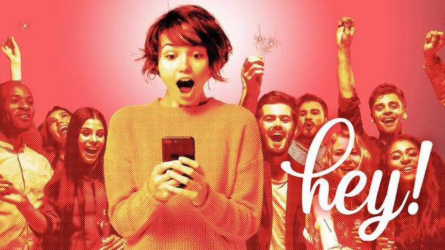 画像1: 憧れのタレントからサプライズメッセージが届く新サービス!heyheyが日本上陸!