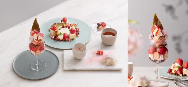 """画像: 銀座の美の複合施設「Beauty Connection Ginza」2F フルーツのフルコース専門店「フルーツサロン」""""いちご×桜"""" 春の贅沢フルコースが登場"""