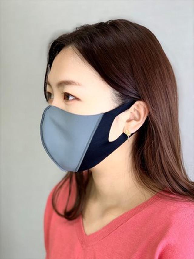 画像1: メイクの技術を応用、フェイスラインに影をつくり小顔に見せる夏用マスク新発売!