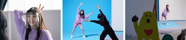 """画像2: 髙橋ひかるさんが得意のダンスを全力で披露!思わずマネしたくなる""""Vポイント""""ポーズにも注目!"""