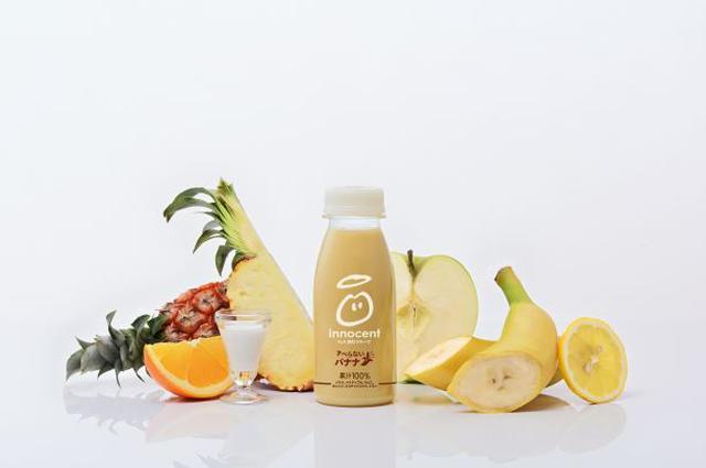 """画像: イノセント""""まんま、飲むフルーツ"""" の新レシピ「すべらないバナナ」が新発売。"""