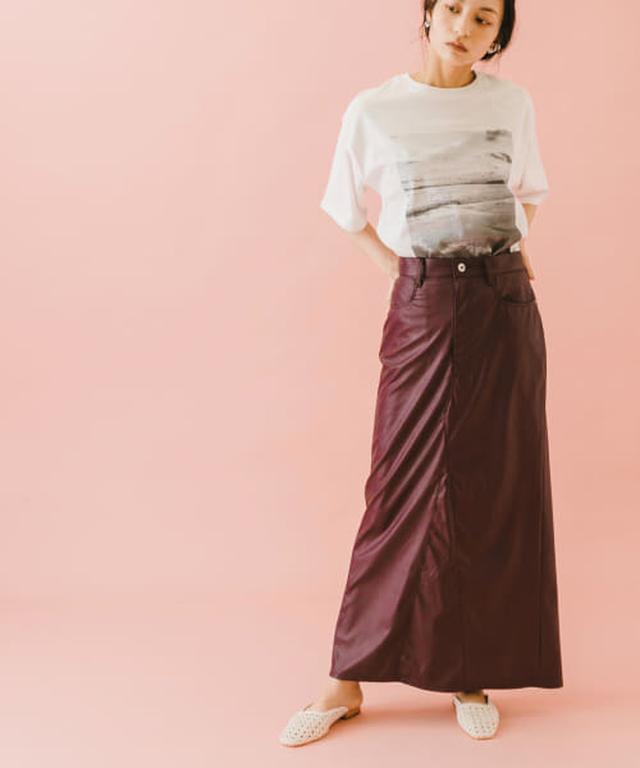 画像: naturaglacé×SENSE OF PLACE 【別注】ナチュラグラッセエコレザースカート[AA15-25L117]|URBAN RESEARCH公式ファッション通販
