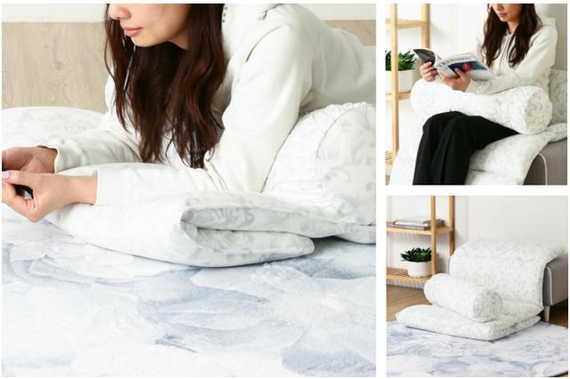 画像: オンラインショップ限定販売 使い方いろいろ、洗濯できるひんやり滑らか「ふわろ ごろ寝マット」