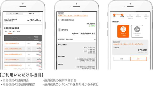 画像2: auじぶん銀行スマホアプリからauカブコム証券の投資信託が購入できる!