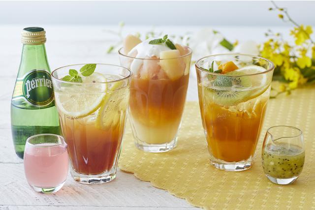 画像: 「アフタヌーンティー」白桃・キウイ&マンゴー・レモンを使ったひんやりさわやかアレンジティー