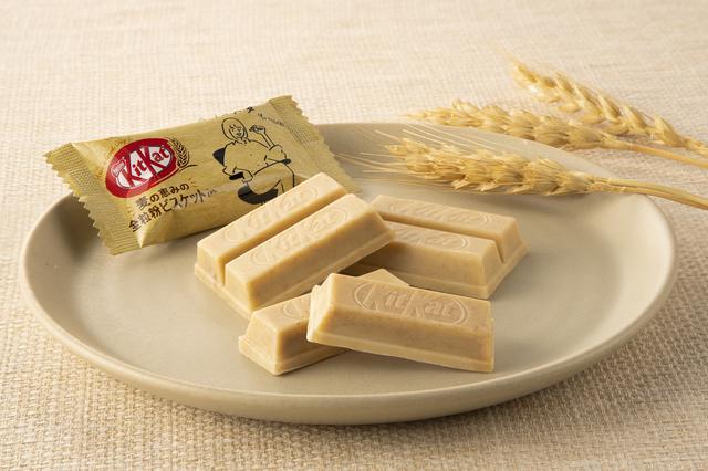 画像3: 【試食レポ】キットカットから約10年ぶりの新シリーズが登場!麦の恵みの「キットカット ミニ 全粒粉ビスケットin」