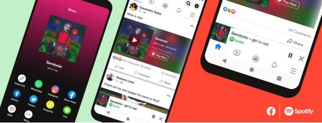 画像: SpotifyとFacebookが連携