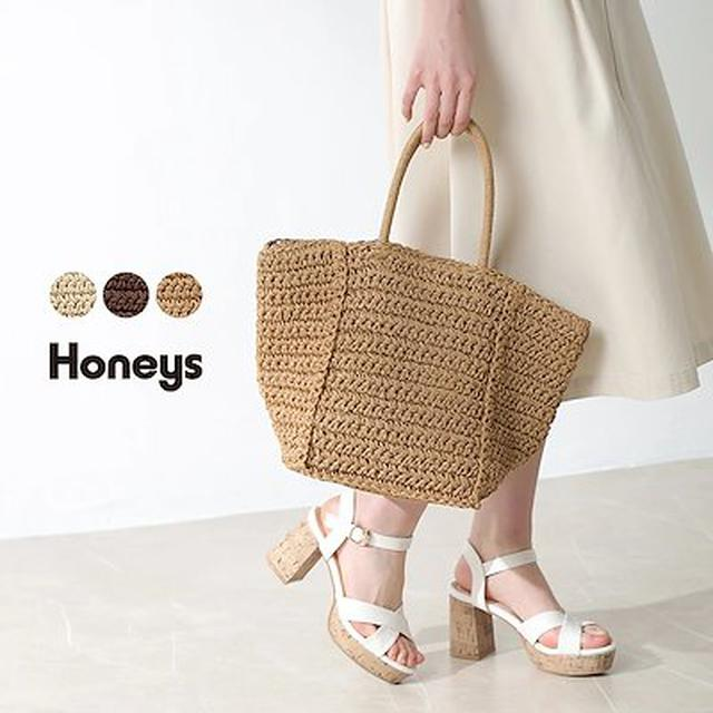 画像: [Qoo10] ハニーズ : 【HONEYS公式】鞄 トートバッグ か... : バッグ・雑貨