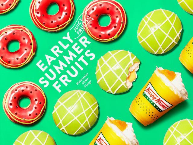 画像1: 【試食レポ】早くも夏キターーーー!!!!! クリスピー・クリーム・ドーナツの新作が可愛くて美味しくて止まらない♡