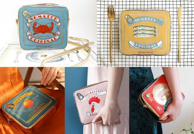 画像: 缶詰ポシェットポーチシリーズは、現在、みかん缶含め全5種類。 各4,740円(税込)