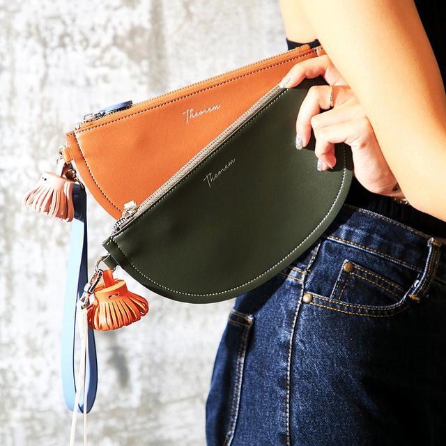 画像: Pie clutch clutch bag - brown color Coin PurseOff-SeasonOff-Season Sales - THEOREM  - クラッチバッグ | Pinkoi