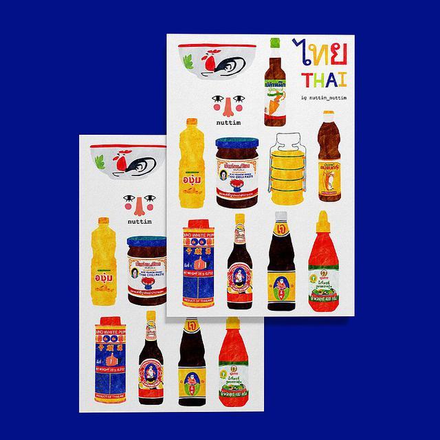 画像: Sticker : Sauce Thailand Set - nuttim  - シール | Pinkoi