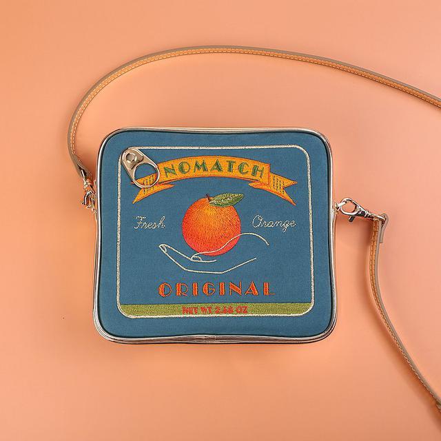 画像: みかん缶 オレンジ缶 ポシェット ポーチ - NoMatch  - ショルダーバッグ | Pinkoi