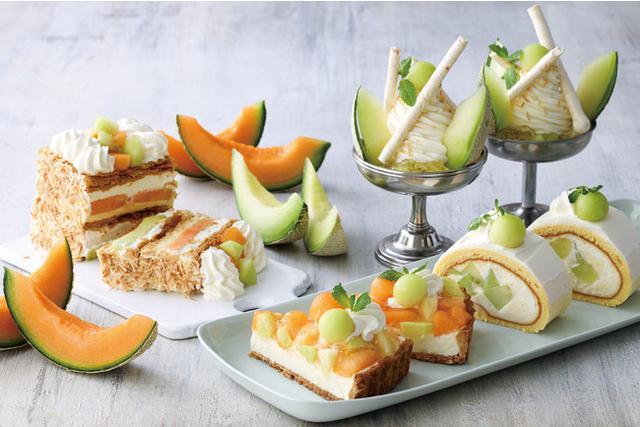 """画像: 【KIHACHI CAFE】メロン好き必見!パフェ、パイ、タルト、ロールケーキが、甘くジューシーな""""メロンづくし""""で楽しめる「メロンスイーツフェア」開催"""