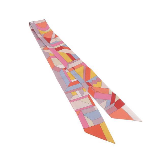 画像: レトロ模様のツイリースカーフ