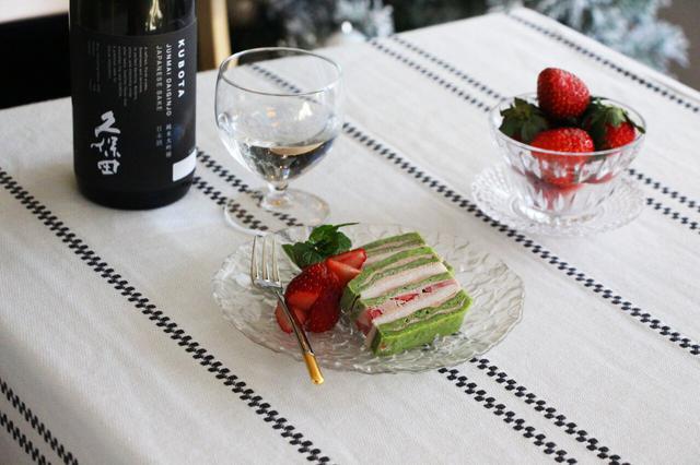 画像: 日本酒をもっと楽しむおつまみレシピ 酒粕と抹茶のミルフィーユケーキ