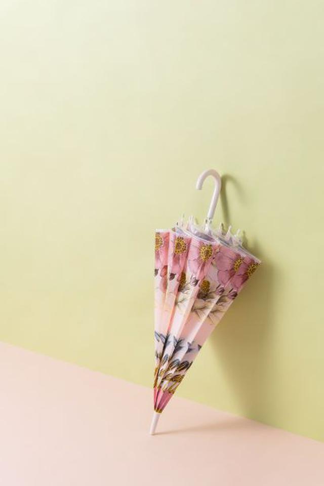 画像3: 華やかなフラワー柄のビニール傘が雨の日を彩る!