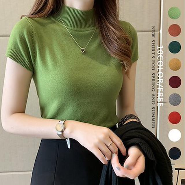 画像: [Qoo10] 2021春夏韓国の人気半タートルネックセ : レディース服