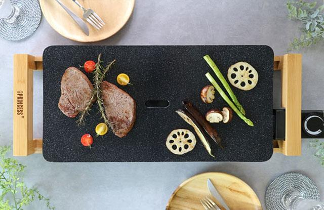 画像: Table GrillStone Black(テーブルグリルストーンブラック) princess-jp.com