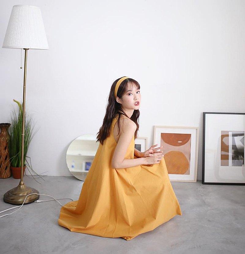 画像: Gypso Dress - Yellow(Ribbon included) - Peonyy.petal  - ワンピース | Pinkoi