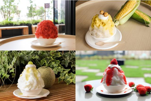 画像1: 金沢の地元ファームから採れた新鮮な食材を使用したかき氷全4種類を提供