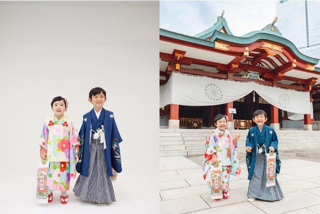 画像3: (左:スタジオ撮影、右:「みてね出張撮影」)