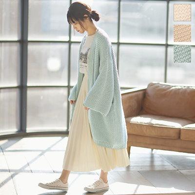 画像: [Qoo10] KOBE LETTUCE : 手編み風ゆるカーディガン [C5149]... : レディース服