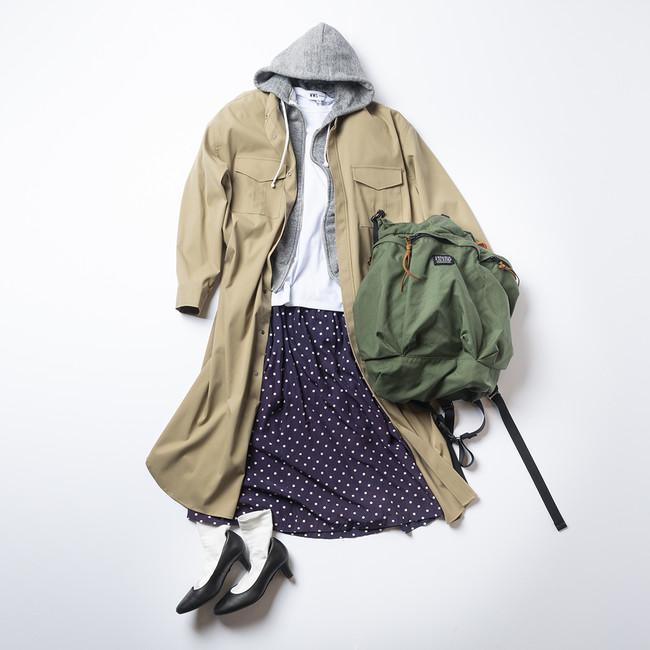画像2: レディース新商品「3WAYシャツワンピースコート」「ちょっと長めのワークスカート」