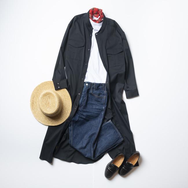 画像3: レディース新商品「3WAYシャツワンピースコート」「ちょっと長めのワークスカート」