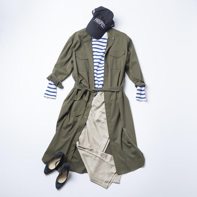 画像4: レディース新商品「3WAYシャツワンピースコート」「ちょっと長めのワークスカート」
