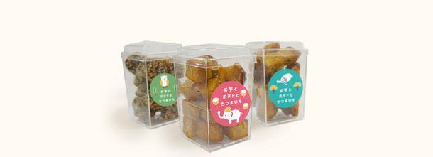 画像: ・大学芋カップ 3種類(ころぽて、ごまぽて、ぽてバー) 販売価格 各378円(税込) 外はカリッと中はほくほく絶品の大学芋。