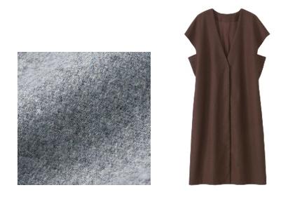 画像: (左)メルトン素材/(右)ボックスシルエット