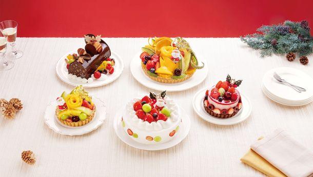 画像: 果物専門店こだわりのフルーツを使ったクリスマスタルト「フルーツピークス」