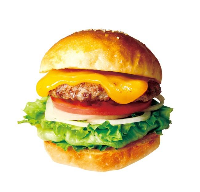 画像: THEチーズの王道バーガー チェダーチーズバーガー340円