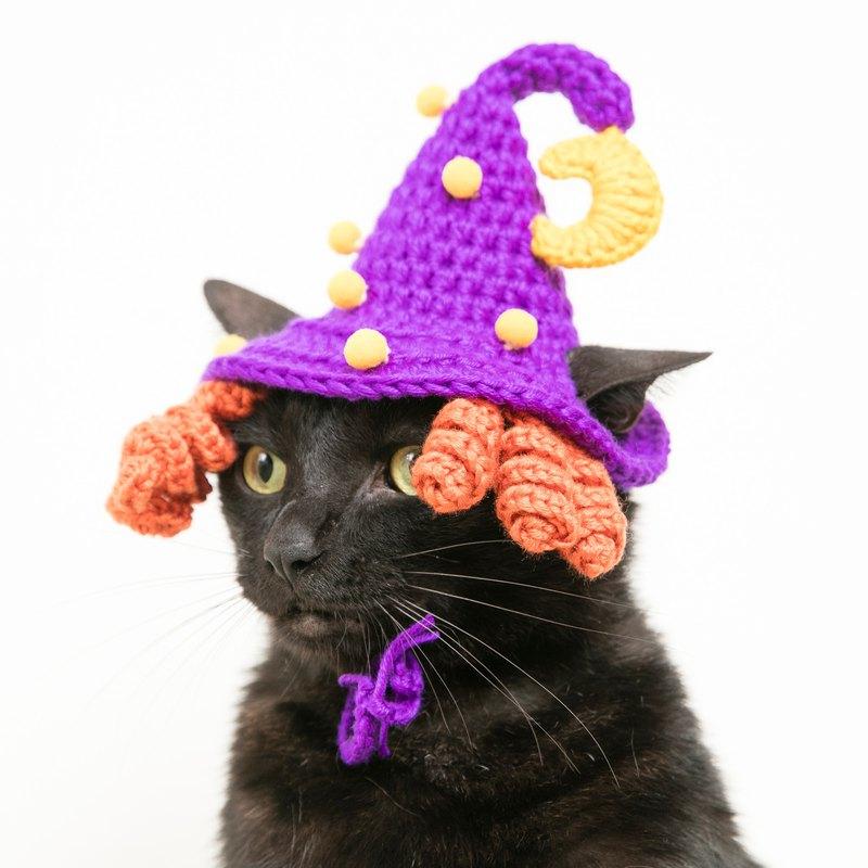 画像: サイケデリックスムーンライトマジックウィッチハットハロウィン限定ハロウィン限定版 - Chubby Rainbow  - 洋服・帽子 | Pinkoi