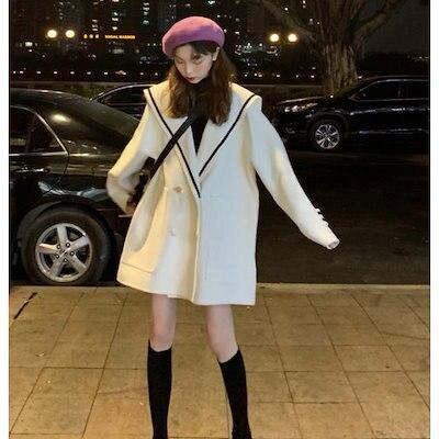 画像: [Qoo10] セーラーカラー ジャケット アウター オ... : レディース服