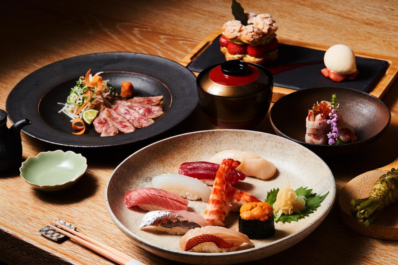 画像: 「the SUSHI ガラディナー2021」 ●価格:ワインペアリング3杯付き ¥30,800 ●期間:2021年12月24日(金)・25日(土) ※記載の税込価格に、15%のサービス料が加算されます。