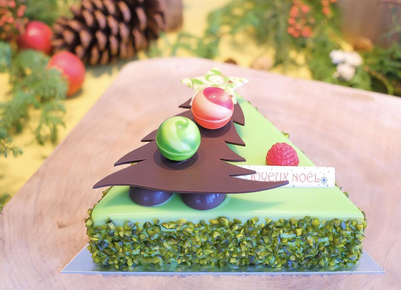 画像: 〜クリスマスツリー〜ピスタチオムース